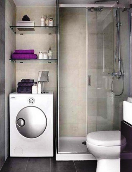 место в ванной для стиральной машины