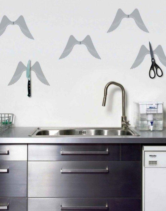 объемный декор в оформлении кухонных стен