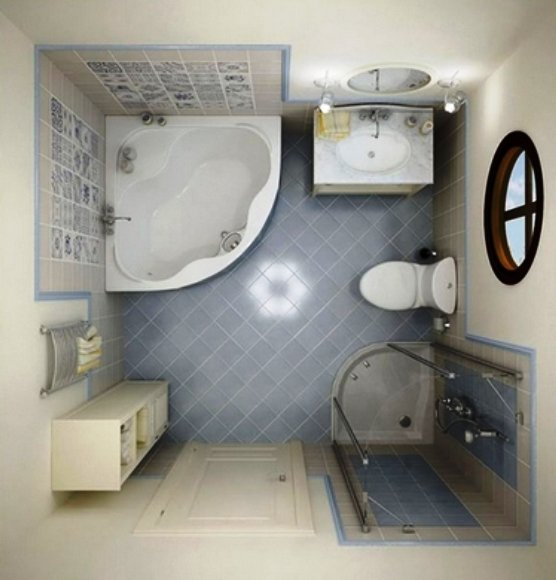 душевая кабина в просторной ванной