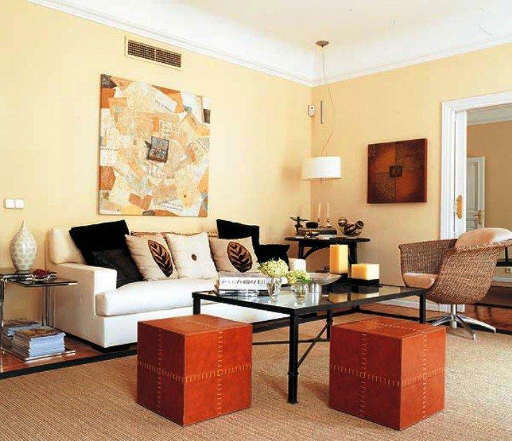 плетеная мебель в интерьере квартиры