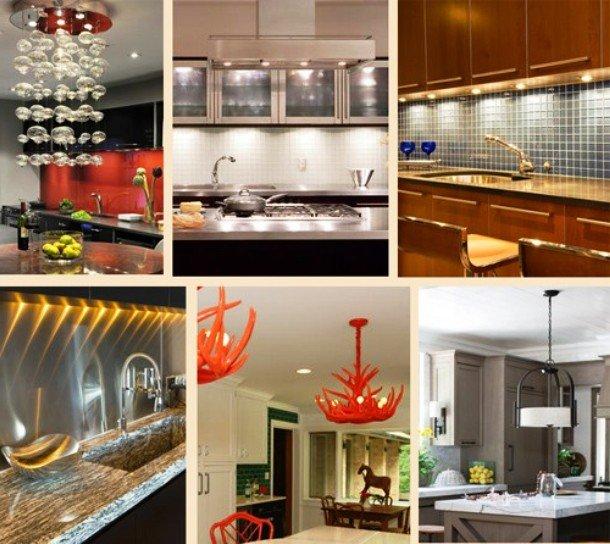 обновленный свет на кухне
