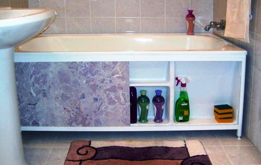 Как своими руками сделать экран под ванную