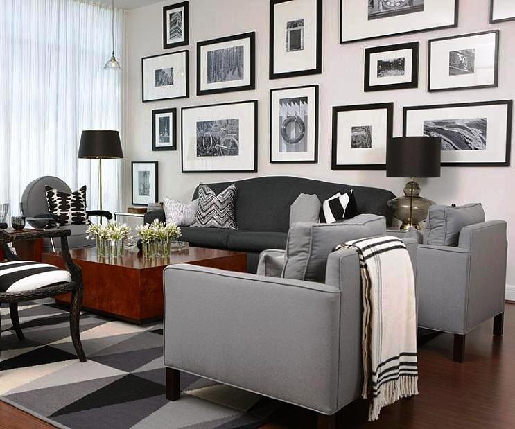 черно-белые фотографии как элемент в создании интерьера