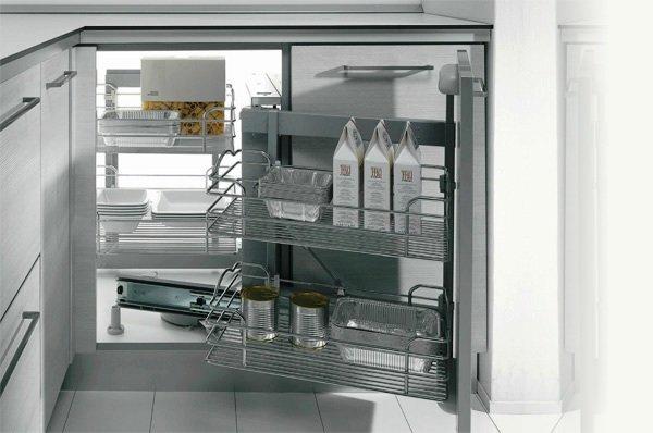 выдвижная система для углового модуля