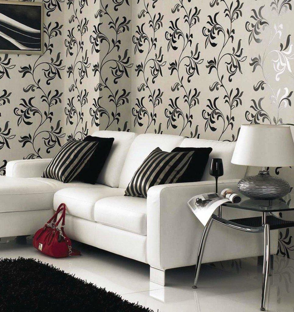 цветочный орнамент в черно-белых цветах