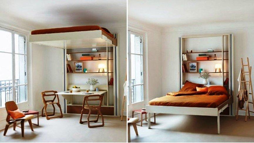 подвесная кровать - оригинальное решение
