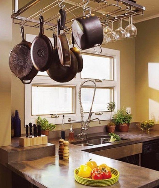подвесная система для хранения различной кухонной утвари