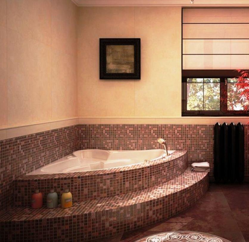 ванна встроенная в подиум