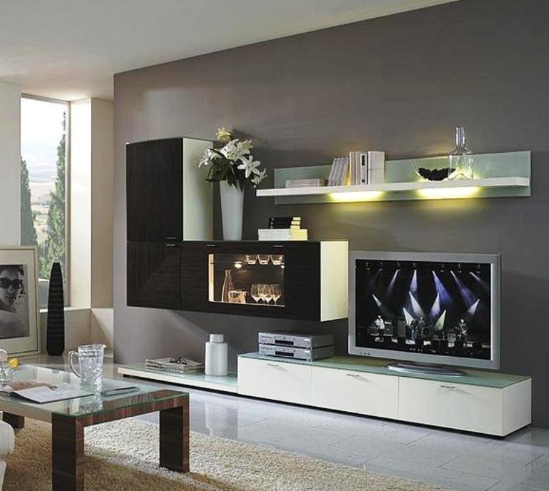 стенка для гостиной в стиле минимализм