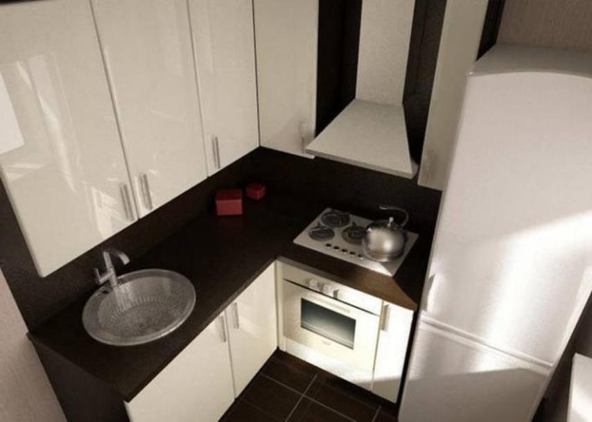 черная основа и белые акценты в интерьере кухни