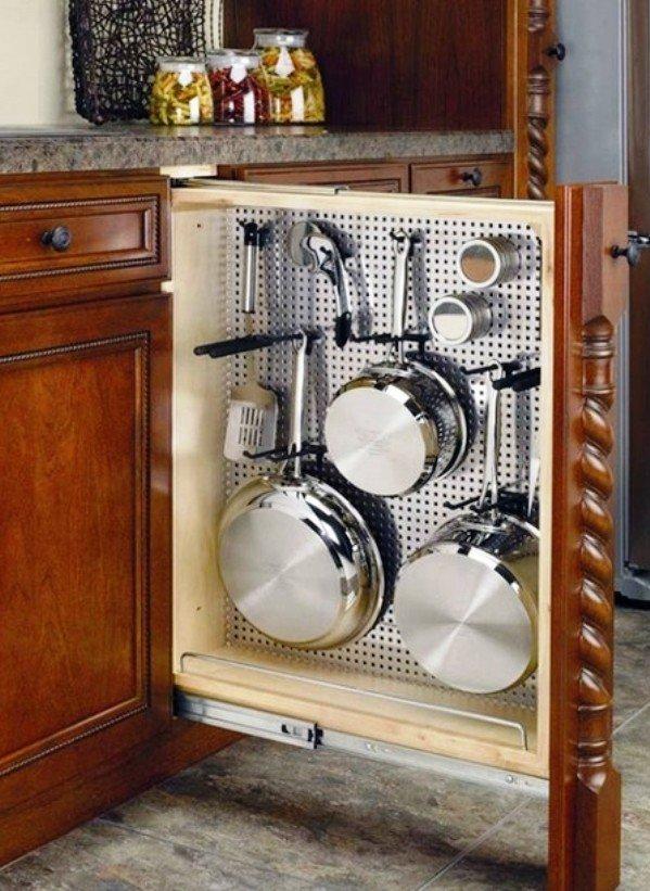 отличный пример эргономики в кухонной мебели