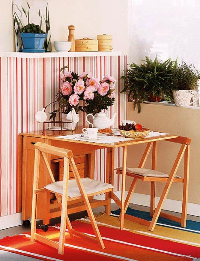 складная мебель - эффективное средство экономии пространства