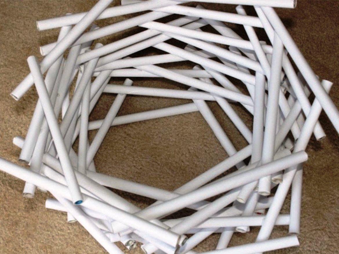 пятиугольник в основе конструкции абажура