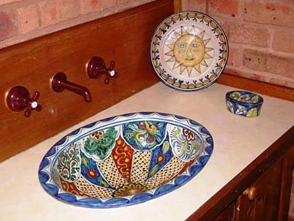 экзотический вид кухонной раковины
