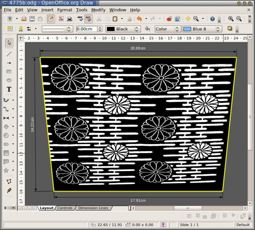 создание рисунка абажура в программе