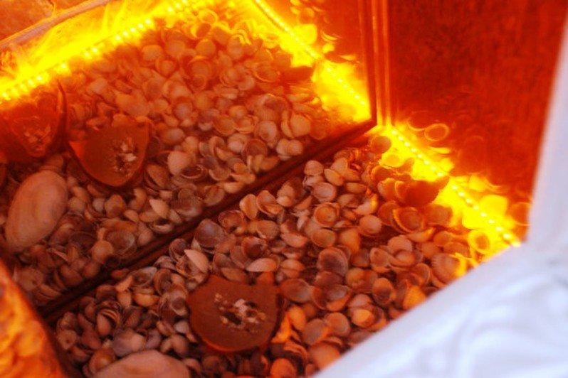имитация огня в фальш-камине