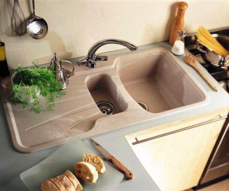 полуторная раковина для кухни