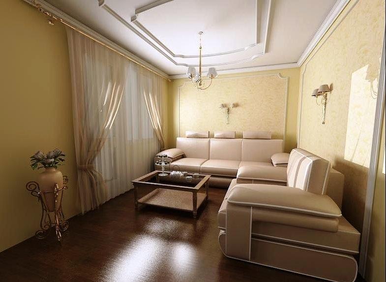 расположение дивана в центре гостиной