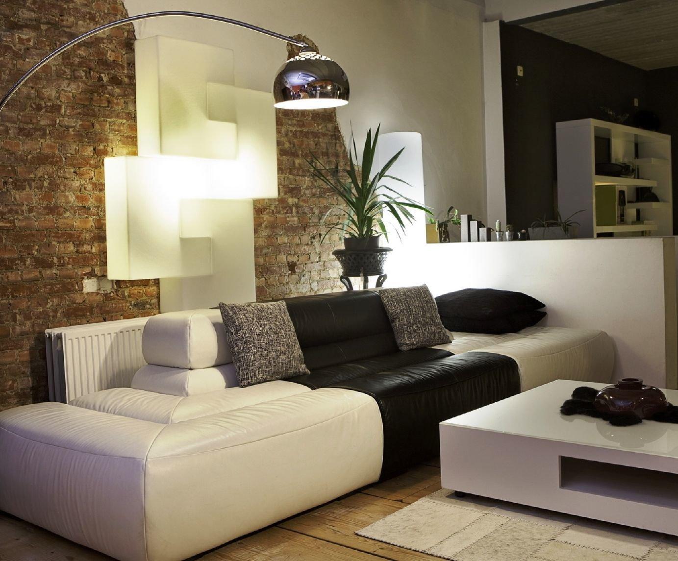 мебель белого цвета в современном нтерьере
