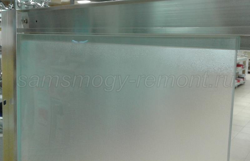 стекло установлено в профиль