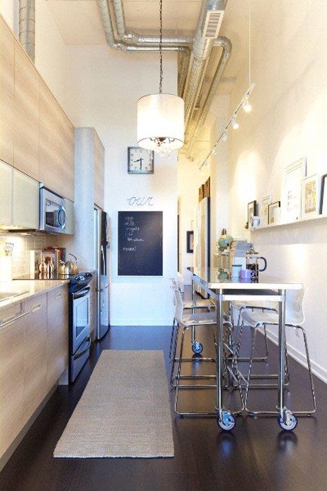столик для узкой кухни