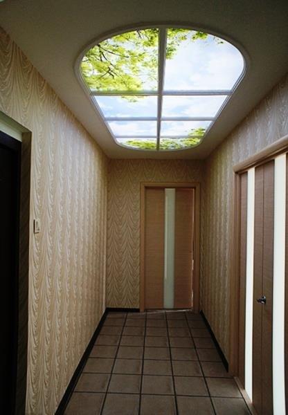 имитация окна в потолке