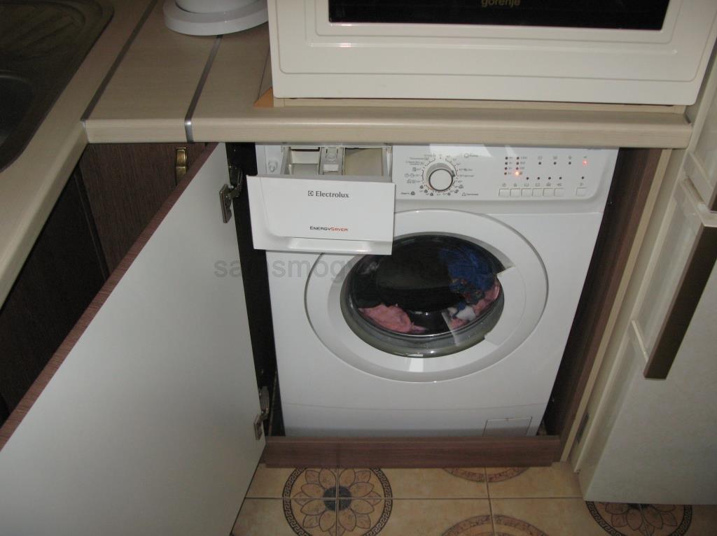 стиральная машина в работе