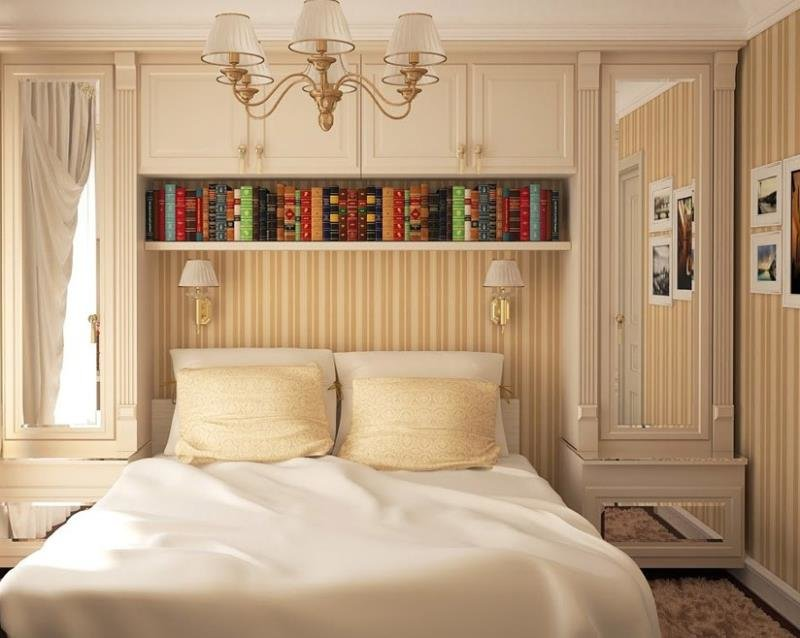 Функциональная мебель для маленькой спальни