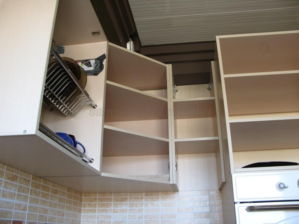 установка навесных шкафов