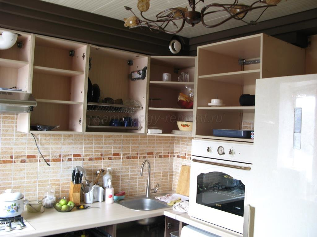 кухня без фасадов