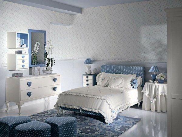 Визуальное увеличение пространства маленькой спальни цветом