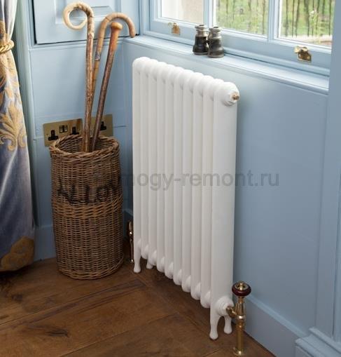 Чугунный радиатор белый