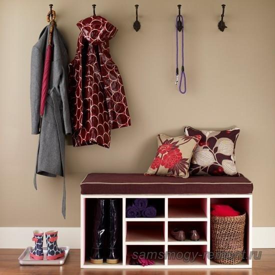 Сортируйте сезонную одежду, не загружайте маленькую прихожую