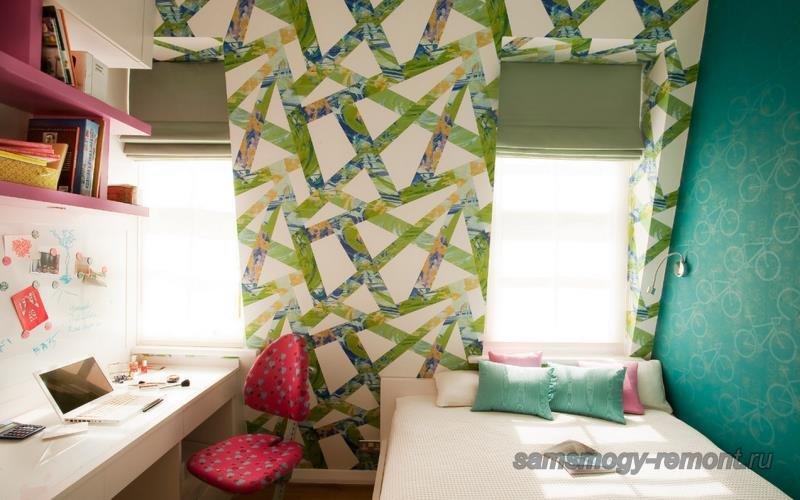 Аппликация комбинирование в спальне для мальчика