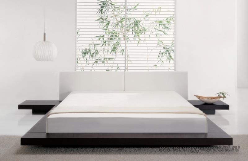 Кровать подиум с толстым матрацем