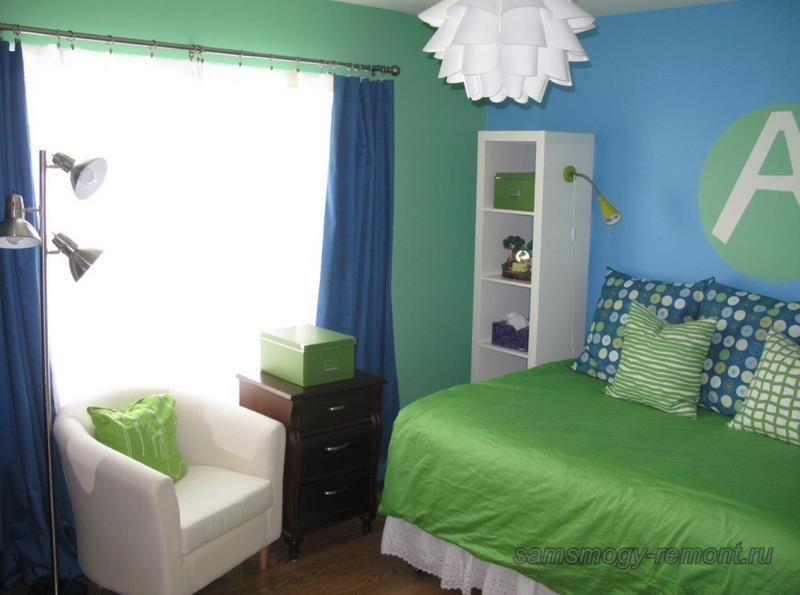 Летнее цветовое решение для спальни