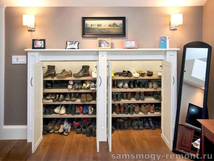 место хранения обуви в прихожей