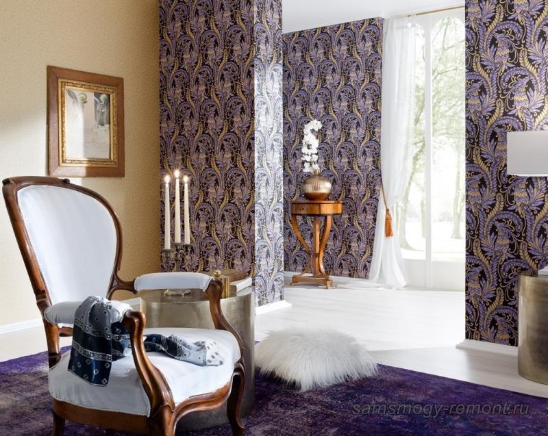 Сочетание цветов коллекционных обоев для спальни