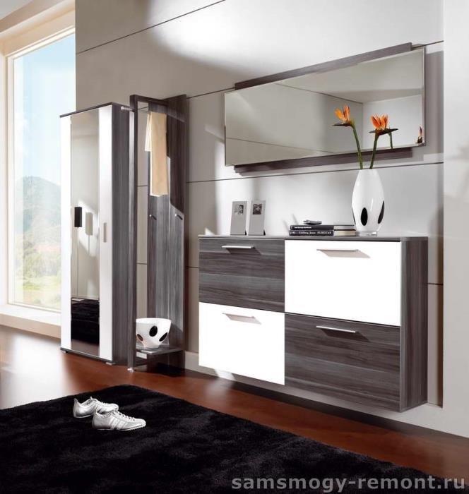 Мебель для прихожей: шкаф и подвесная тумба