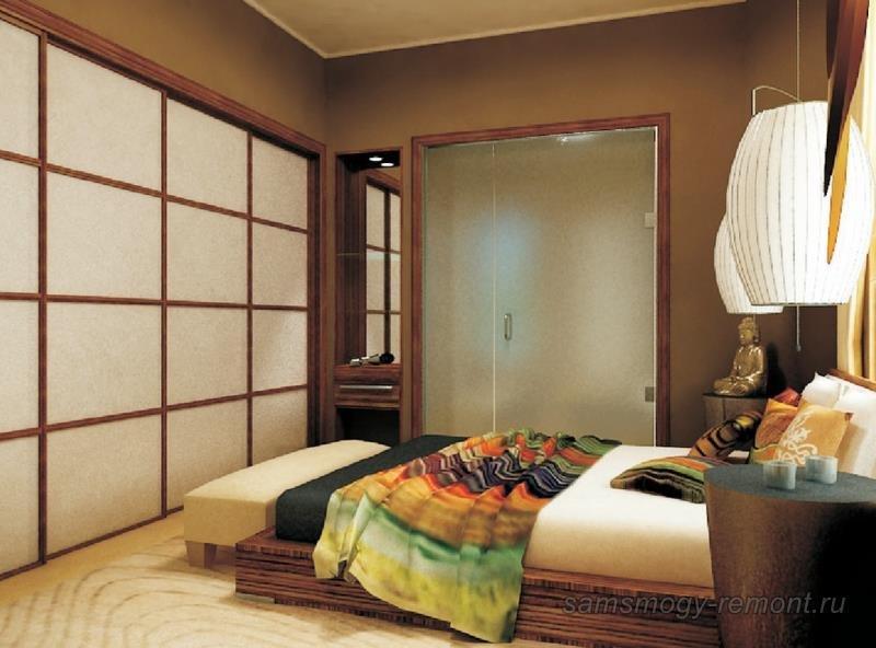Проект спальни в японском стиле