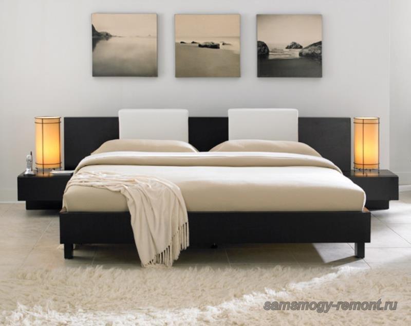Гармония японского стиля в спальне