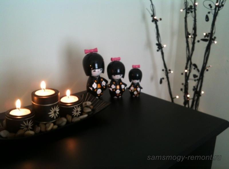 Декоративные аксессуары для японской спальни