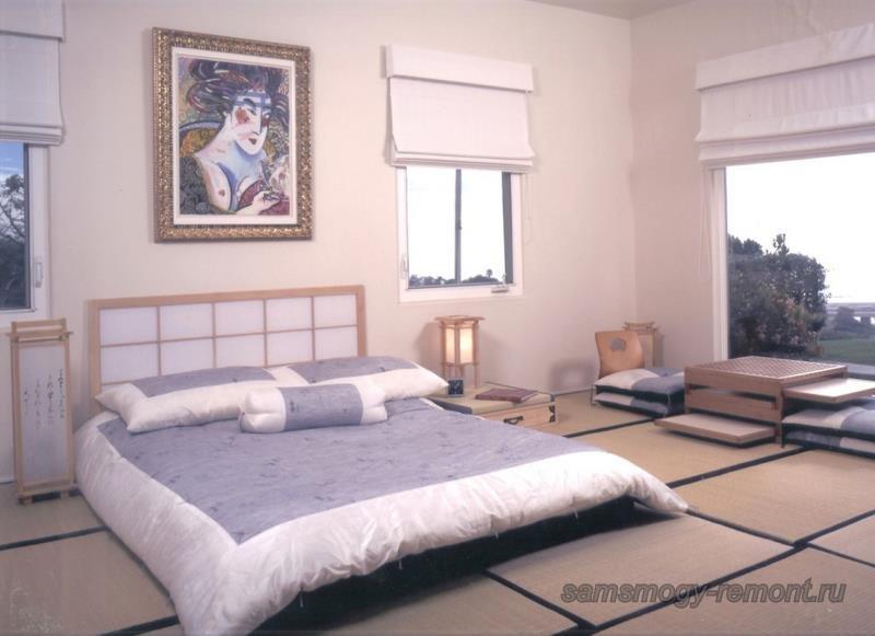 Современная японская спальня