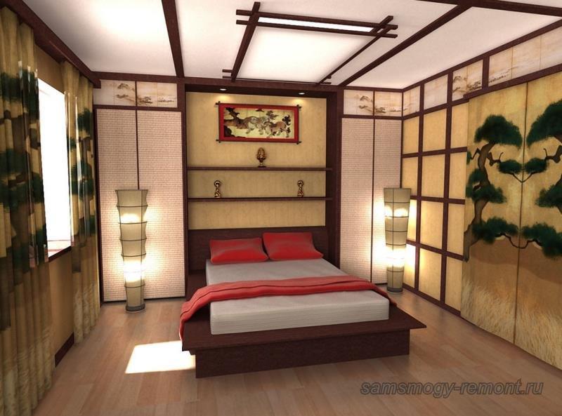 Фусума отделяющие спальню от основного помещения