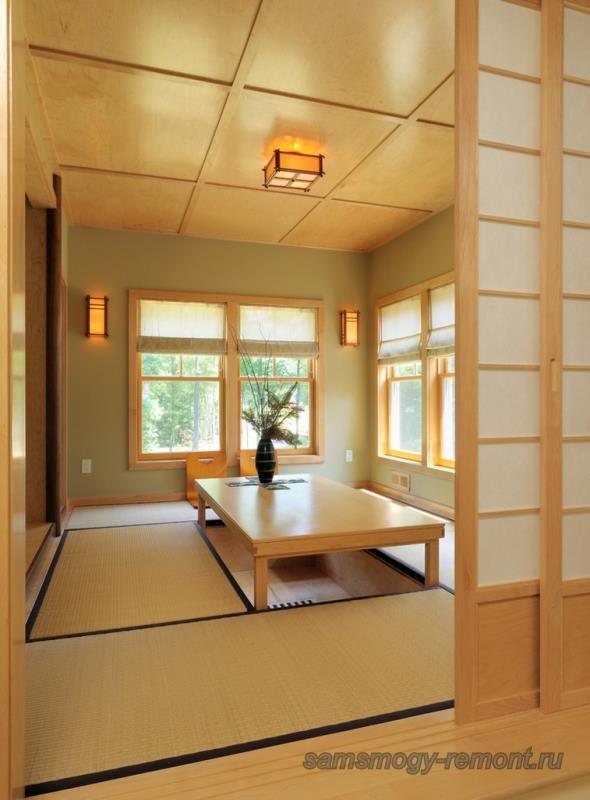 Спокойные краски японского интерьера