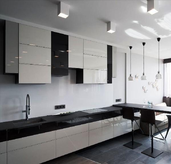 кухонные фасады без ручек