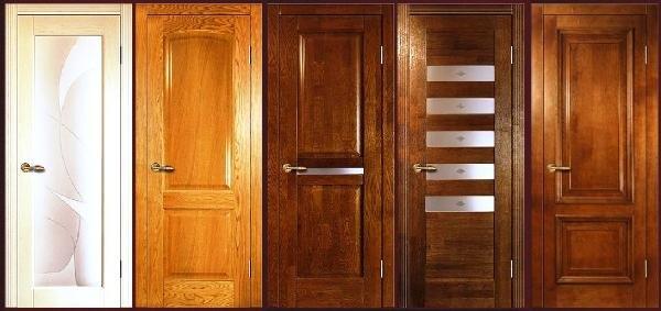 дверные полотна из массива