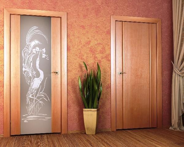 парные двери для ванной и туалета